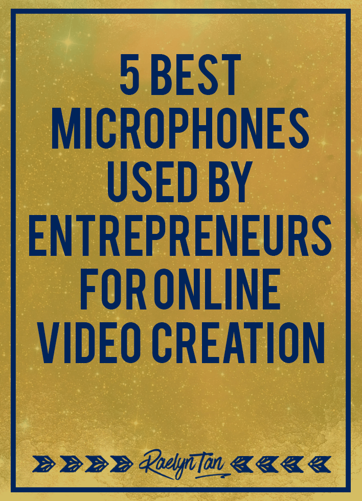 These are the top few microphone products that I've seen entrepreneurs rave about repeatedly!! You can't go wrong with any of these microphones for recording audio or videos online. Read my personal review of the top 5 microphone products for recording: Rode Smart Lav+, Rode VideoMic Pro, Blue Yeti Microphone, Blue Snowball & Audio-Technica ATR2100-USB.
