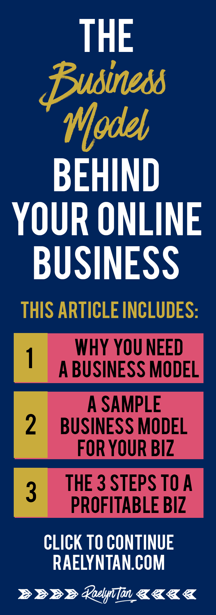 Starting an online business to make money? You need a business model to map your way to success and start working from home! This is a #1 priority for all online entrepreneurs!