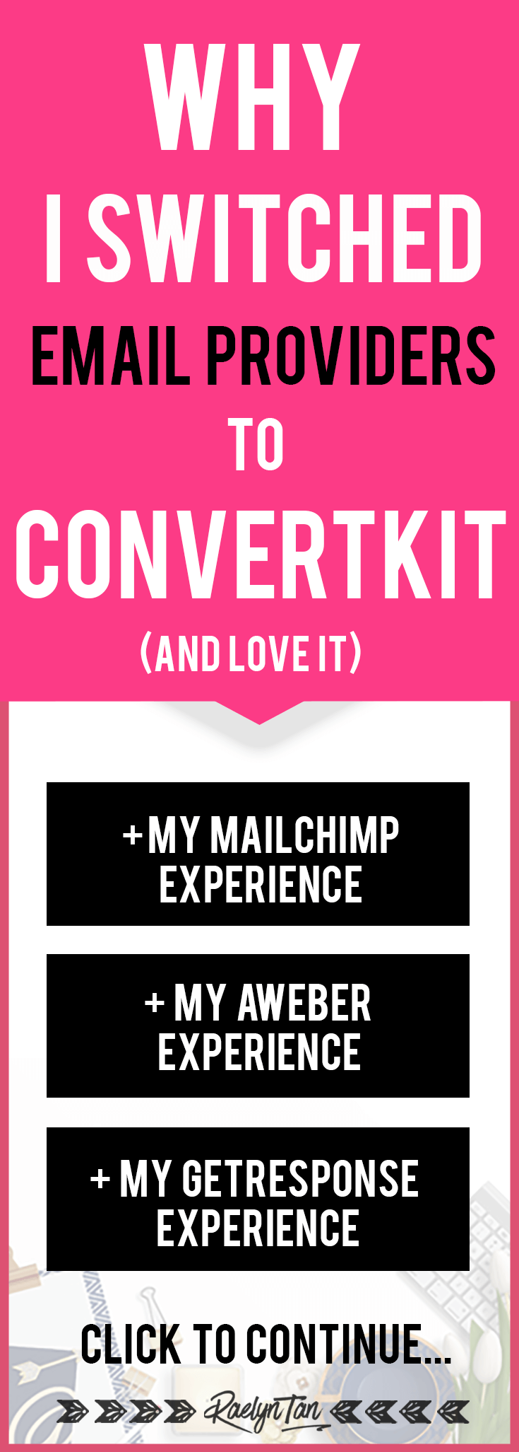 Why I switched to using Convertkit as my email service provider: Convertkit VS Mailchimp VS Aweber VS Getreponse. Use Convertkit to manage your subscribers and grow your email list! (Short tutorial for Convertkit is included too)