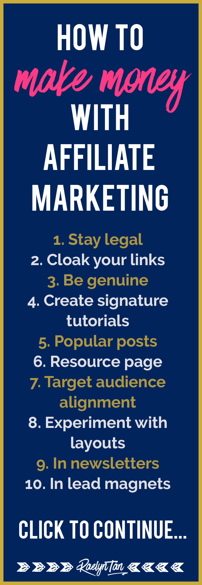 Yay! These 10 tips will help you make money with affiliate marketing. Get more passive income for your online business!