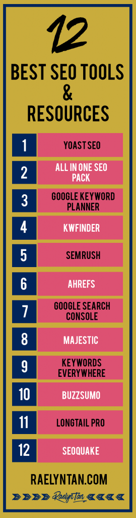 Best SEO Tools For Your Website: Both free and paid search engine optimization tools - including link building tools, keyword research tools, tools that will make you money, seo resources for entrepreneurs, and tips on how to use them.