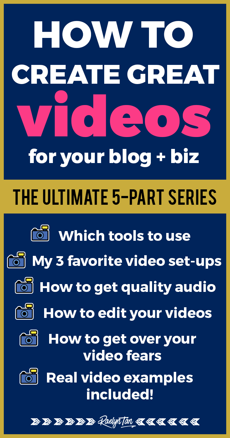How to create and record videos for your blog! Perfect for beginner bloggers and entrepreneurs who need ideas and guidance, whether you want to be on Youtube, on other social media platforms, or to use video marketing for your business. Learn what tools to use too - learn which camera, microphone, video set, and lighting is the best! #video #business #blog #marketing