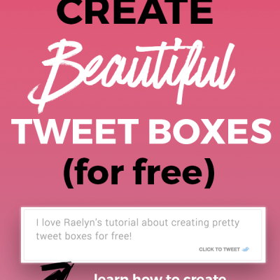 How To Get More People To Tweet Your Stuff With Beautiful Tweet Boxes