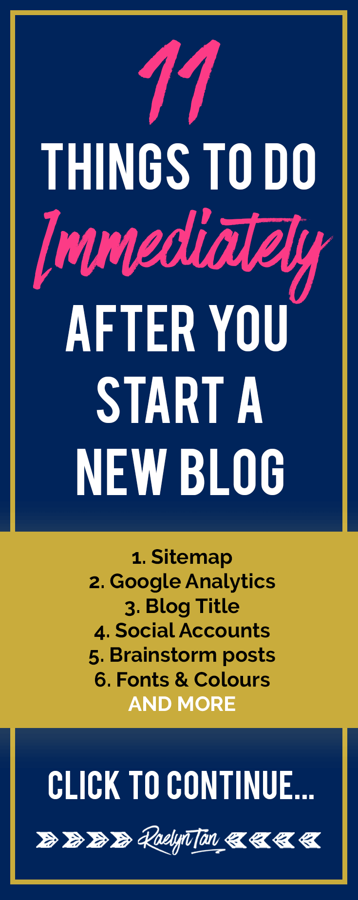 Starting a new blog? Here are 11 practical things to do immediately that'll set your blog business up for success.