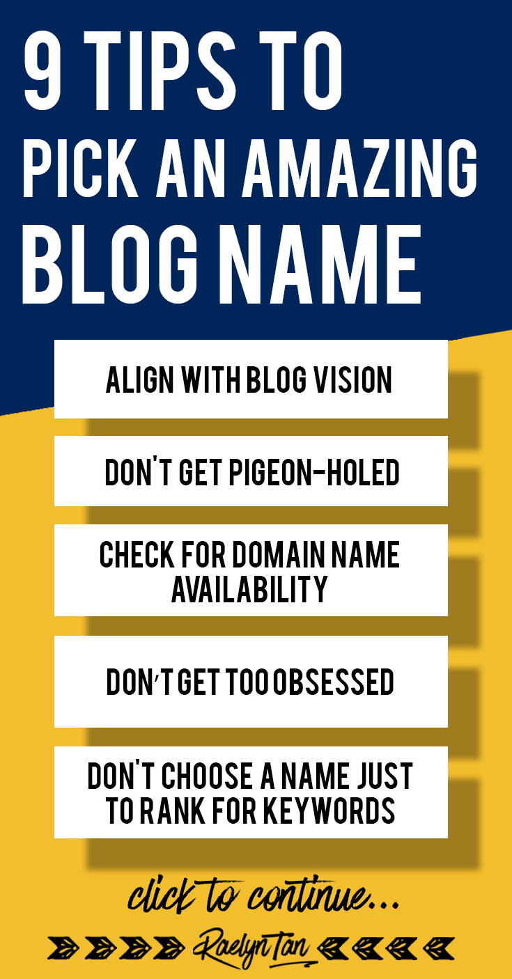 How to Pick an Amazing Blog Name: Learn how to generate a blog name for your business, with many real examples included! Come up with a catchy and creative blog name today! #pick #blog #name #tutorial