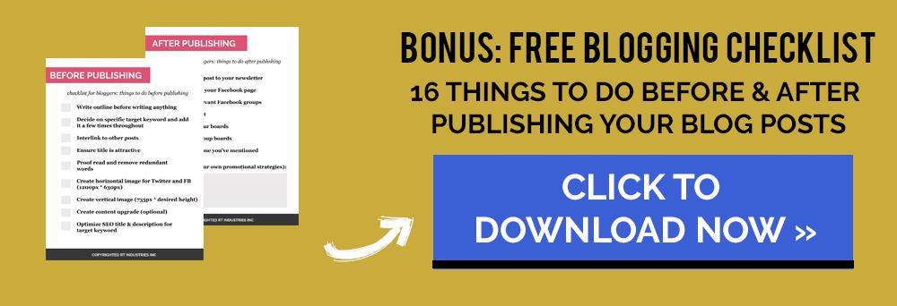 free-blogging-checklist