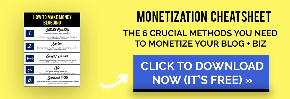 monetization cheatsheet
