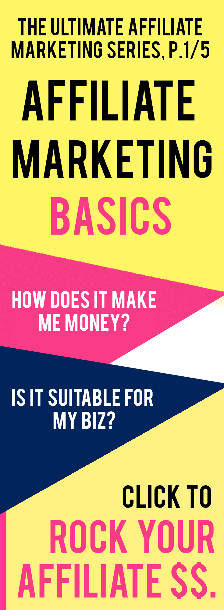 Affiliate Marketing Basics 101: What is affiliate marketing and how does it work for your website and business? + Tips on how to make money with affiliate products in this 4-part affiliate marketing series!