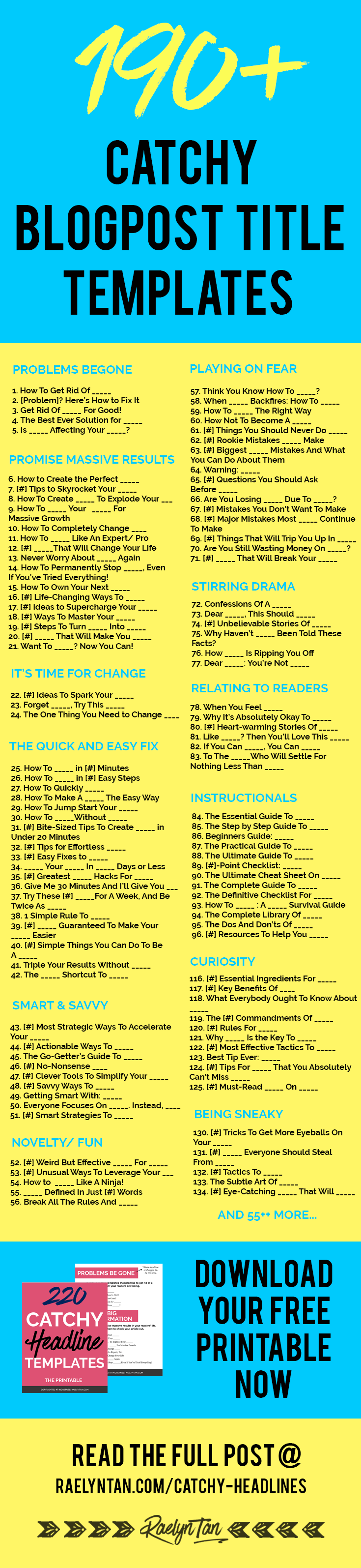 graphic regarding Science Fair Project Printable Headings named 190+ Catchy Headlines + Weblog Titles Towards Order Far more Interest