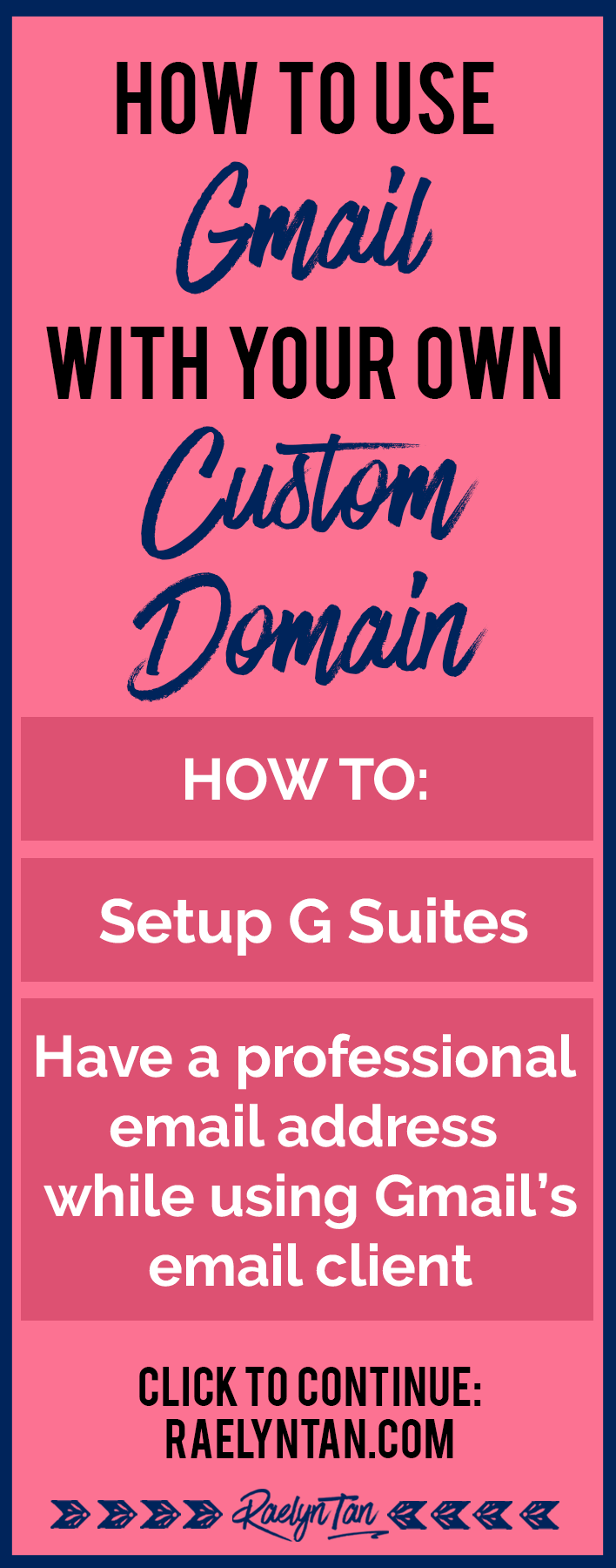 You can use Gmail as your email client instead, PLUS have a custom domain as your email address. In this tutorial, I'll teach you exactly how. (coupon code included!)