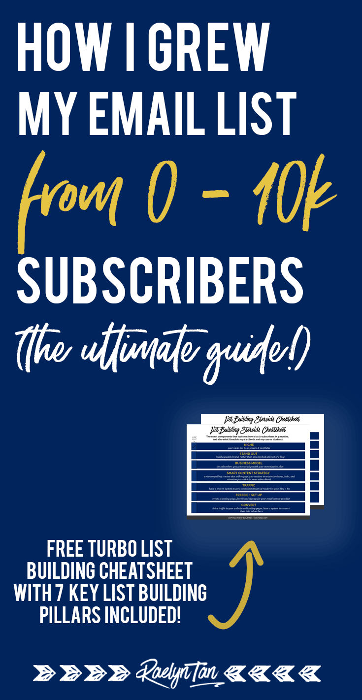 Email list building strategies: How i got from 0 - 10000 subscribers. Get list building tips and ideas to make more money in your online blog + business, and let's start and grow your email list #list #building #strategies #subscribers