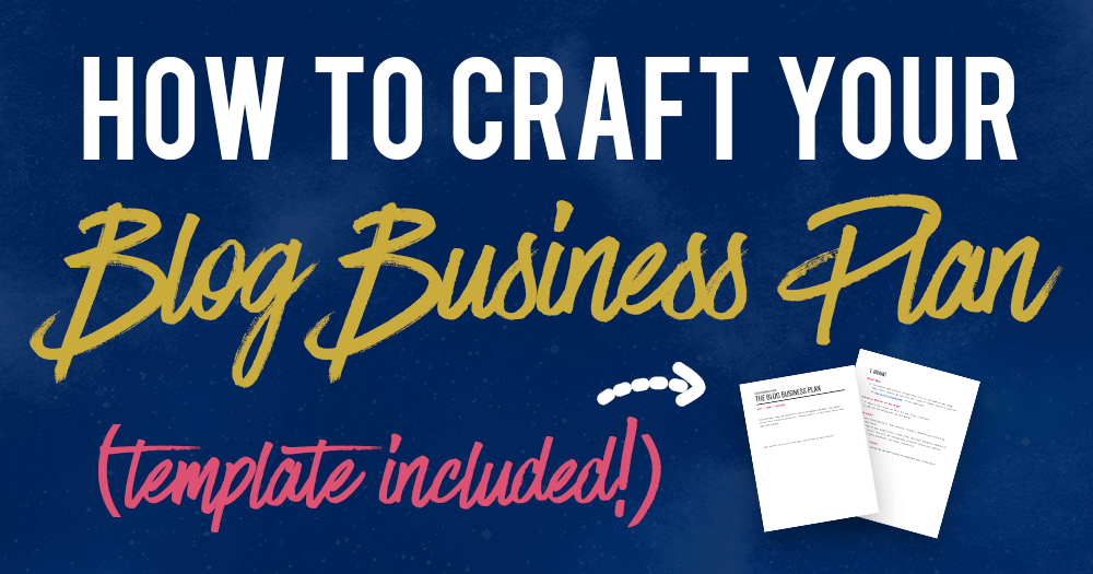 How to craft your blog business plan template included wajeb Images