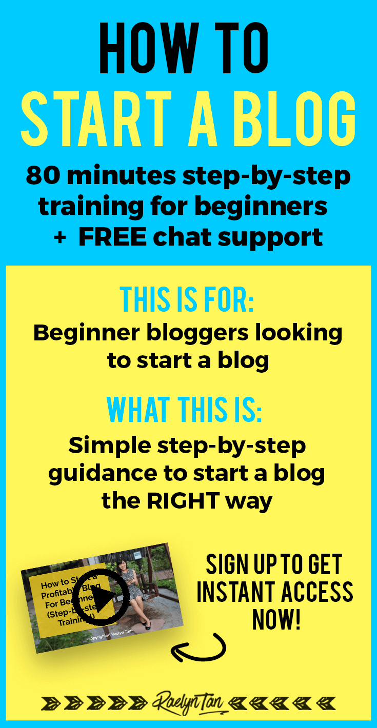 How to start a blog for beginners: Step-by-step training + 1:1 chat support for you to start a blog today and start making money blogging. Let's get your website started! #start #blogging #beginner #training