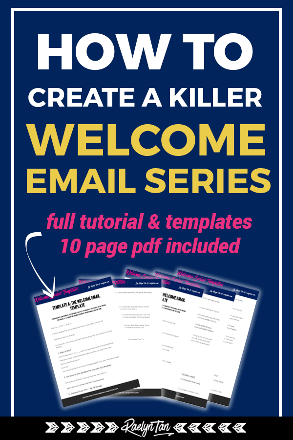 Learn how to write a killer welcome email series, with templates and examples included! Conquer your welcome email sequence today and engage your new subscribers! #welcome #email #series