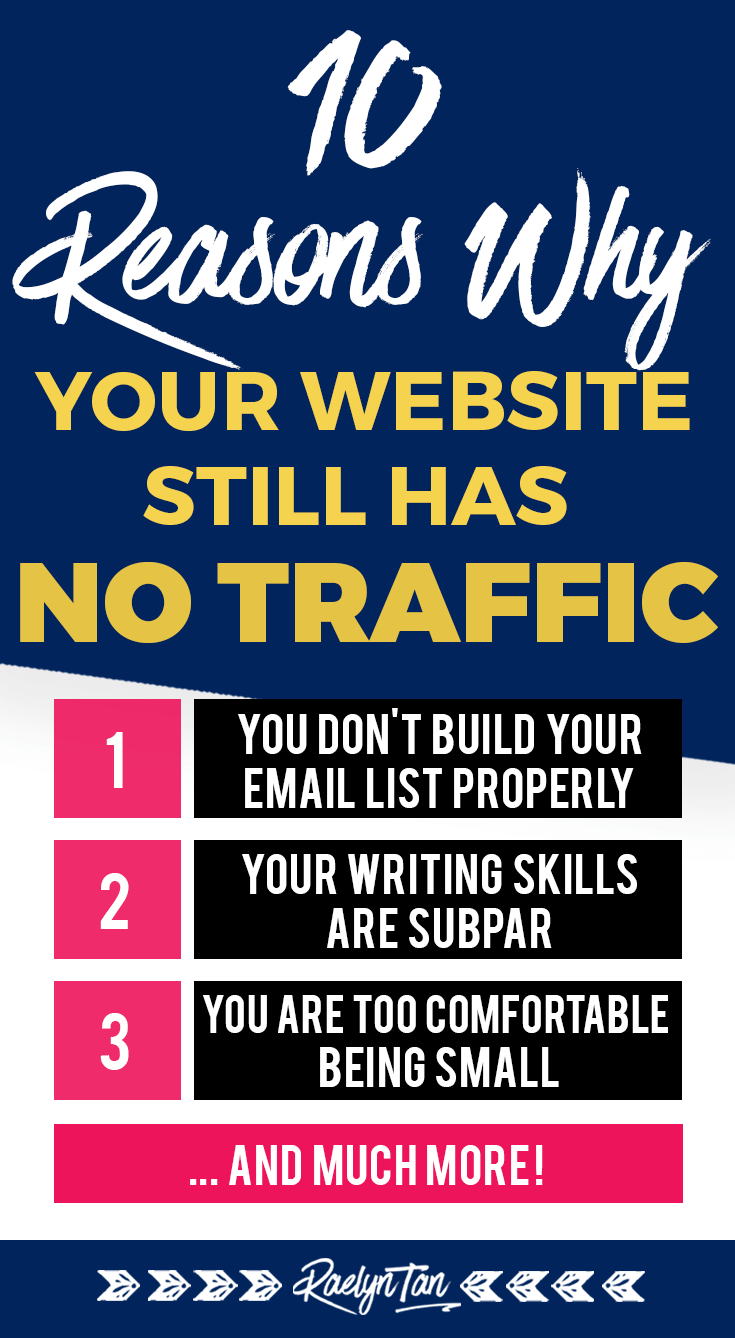 Why your website is still getting no traffic! Here are 10 key reasons why so that you can increase your website traffic on the internet. If your blog and online business is still invisible online, it's time to get visible and get your digital marketing game up.