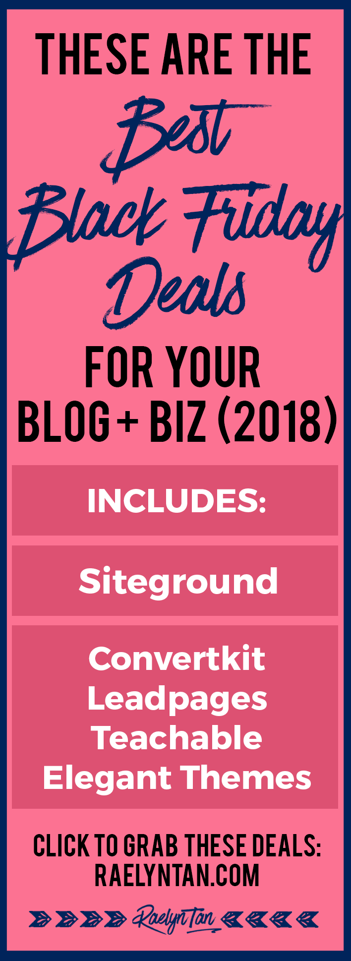 15 Of The Best Black Friday & Cyber Monday 2018 Deals For Bloggers & Online Entrepreneurs You Must Know About! Siteground, Convertkit, Divi, Studiopress, and much more! Catch the sale before its too late!