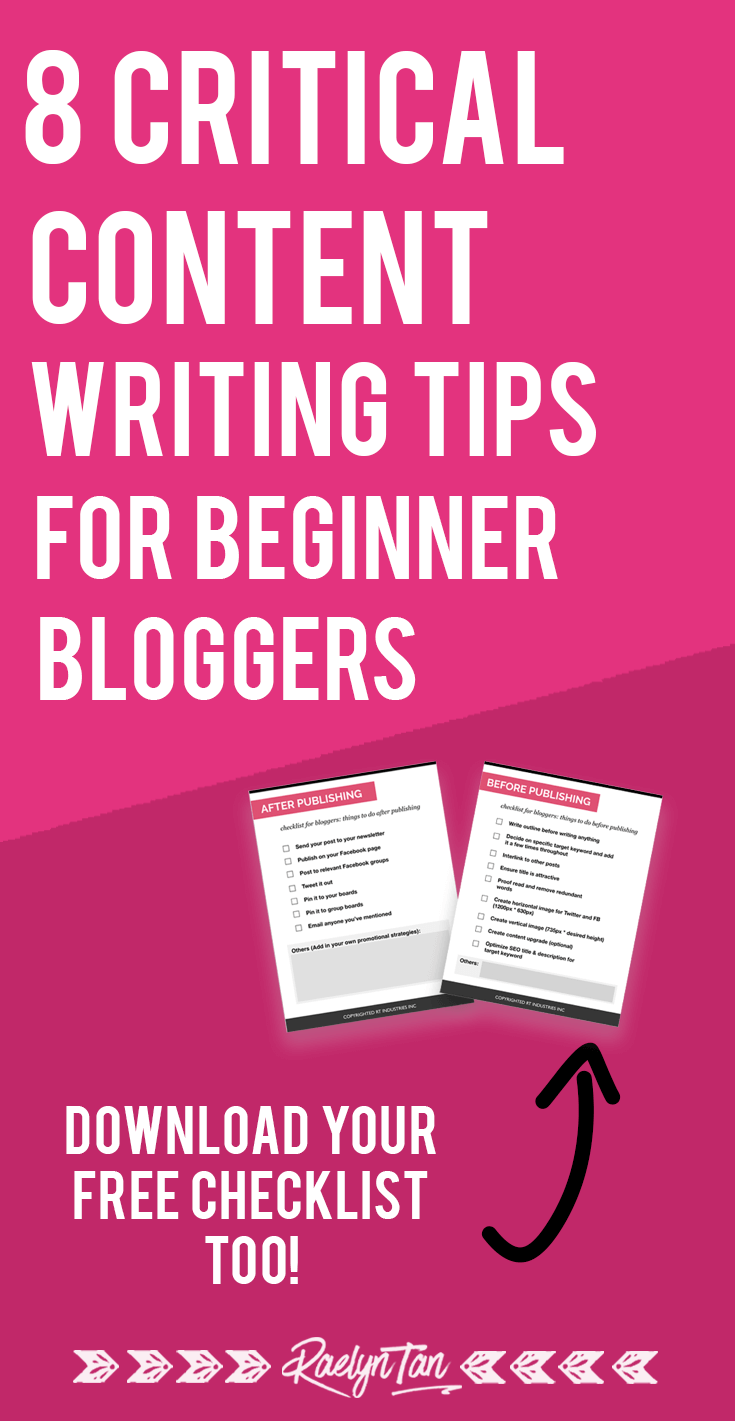 Want to write amazing content? Here are 8 content writing tips to help beginner bloggers and businesses write better blog posts and social media content, from a freelance writer! Get your basics right with these critical content writing tips and ideas. #content #writing