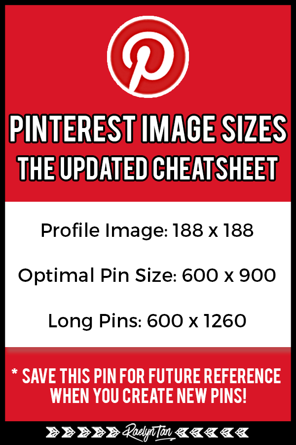 The best Pinterest image size guide for your pins, updated for 2018 and 2019! Learn the optimal pin dimensions, long pin image sizes, infographics to create great pins for your blog, social media and business!