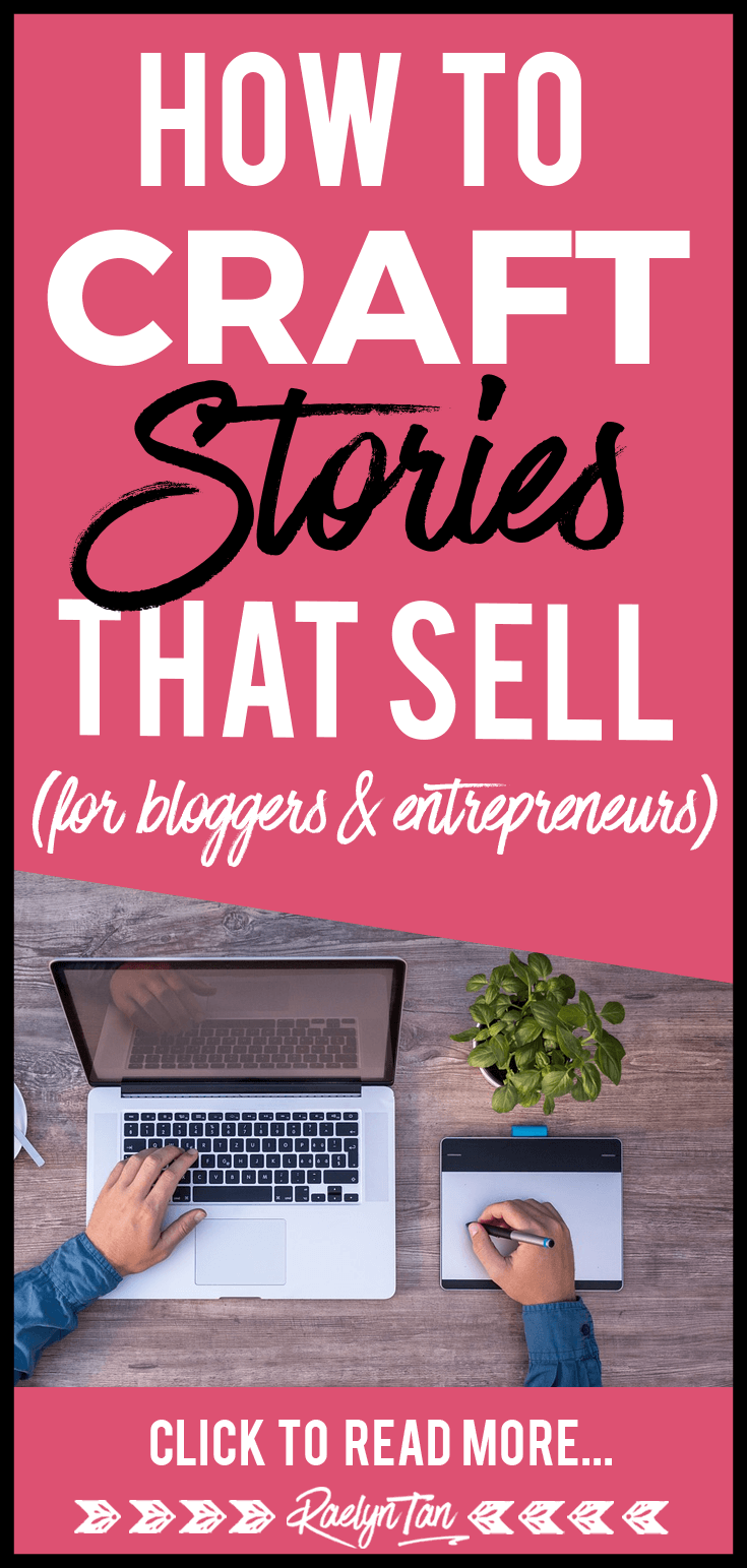 Learn how to master the art of storytelling and craft stories that sell for your blog & online business! Get your marketing game up with these ideas and tips to improve your story telling skills. The product doesn\'t sell itself, the story & sales message do.