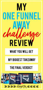 My Personal One Funnel Away Challenge Review - The curriculum, why I love it, my biggest takeaways, & exclusive OFA affiliate bonuses you can get from me! The One Funnel Away Challenge is hosted by Clickfunnels & Russell Brunson